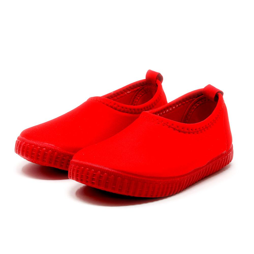 Cangrejeras de licra roja lavables y elásticas para niño y niña