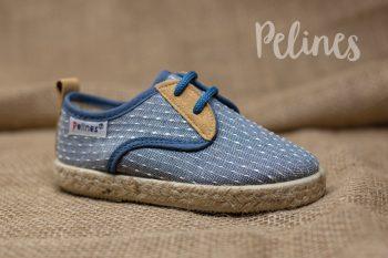 Pelines zapatilla lona ceremonia niño