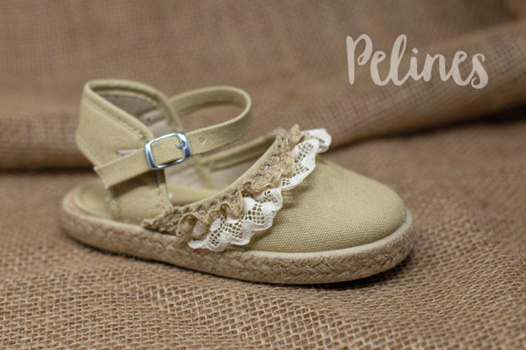 Pelines zapatilla lona ceremonia niña