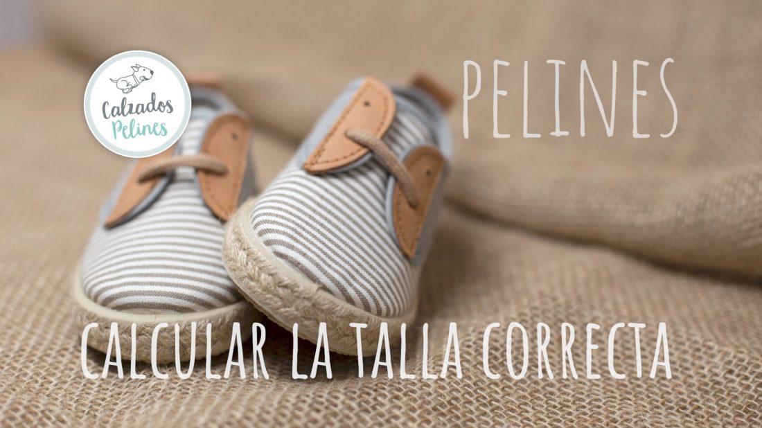 Zapatillas de lona Pelines. Guía de Tallas
